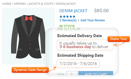 Use Flexible Delivery Date Options
