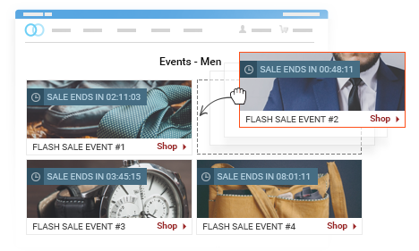 Organize Events in Homepages